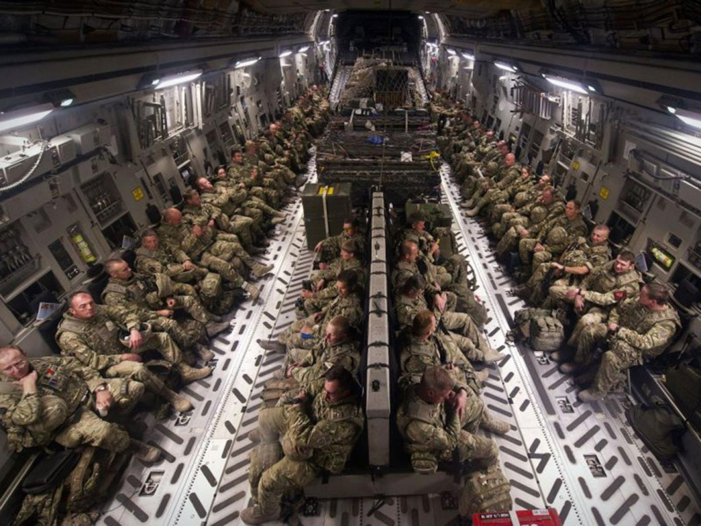 The inside of an RAF C17