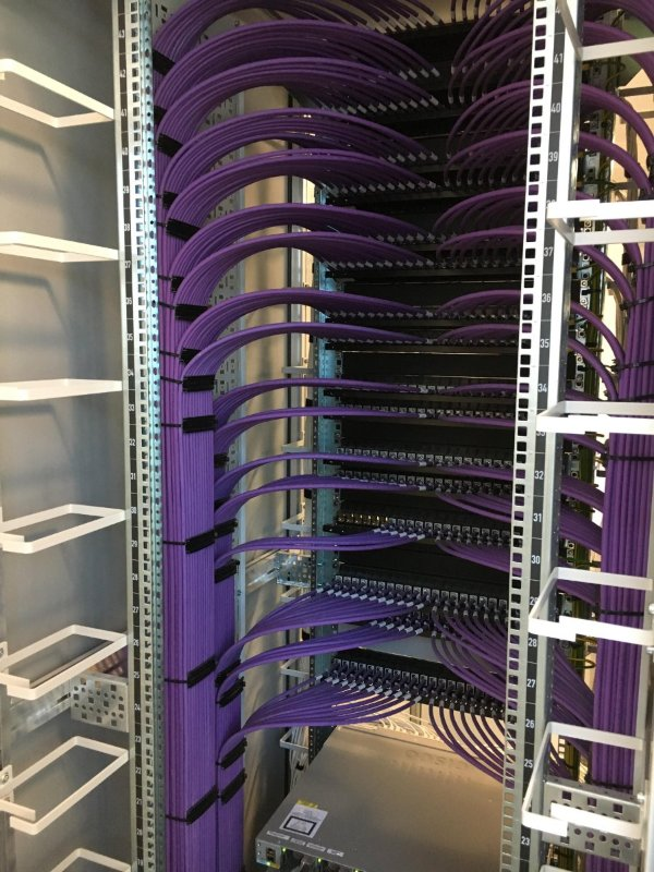 Neat server cabling
