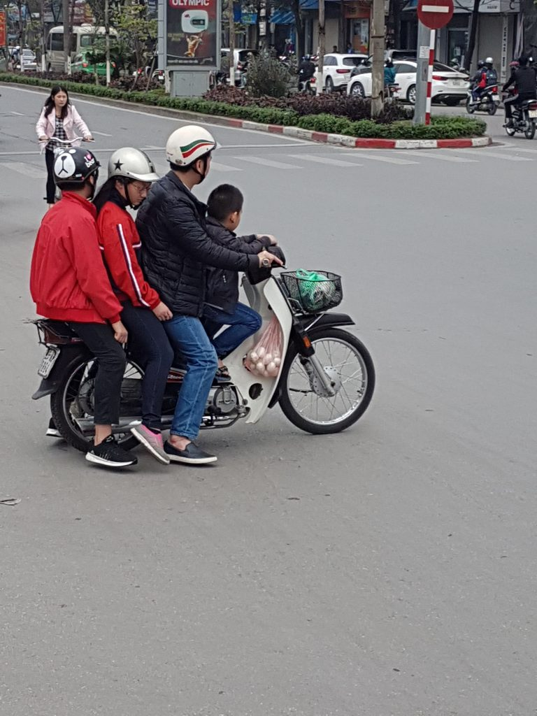 Four on a moped
